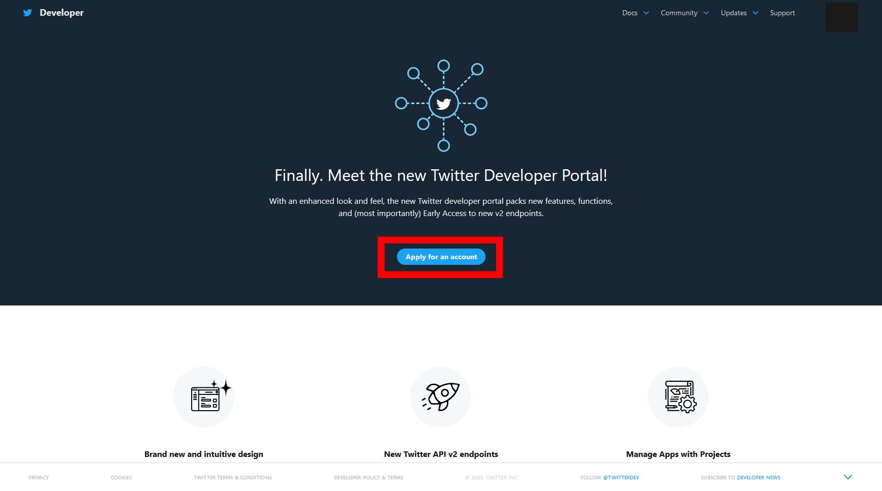 Twitter API v2へ移行手順の画像3